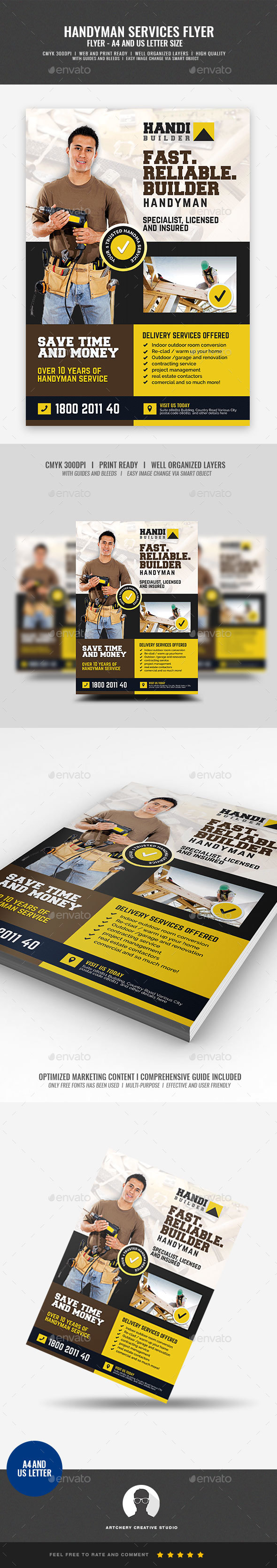 Construction and Building Contractor Promotional Flyer - Corporate Flyers