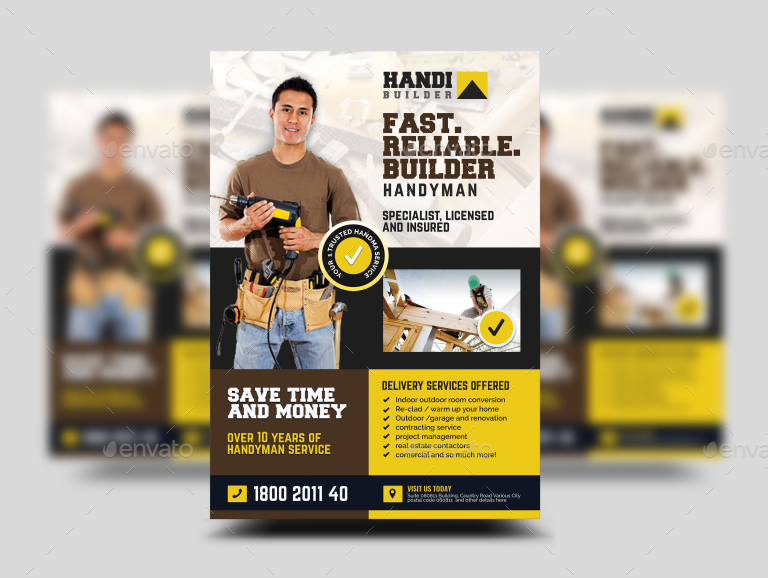Construction and Building Contractor Promotional Flyer