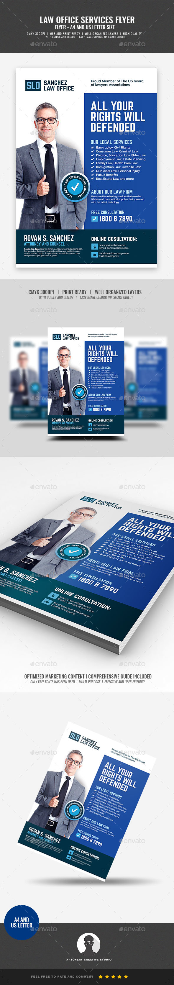 Law Firm and Law Office Flyer - Corporate Flyers