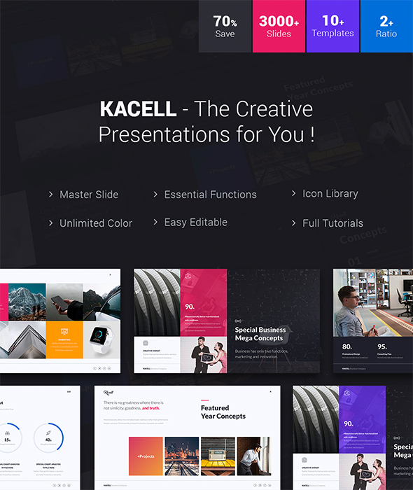 Kacell - Multipurpose & Business Template (Powerpoint) - Business PowerPoint Templates