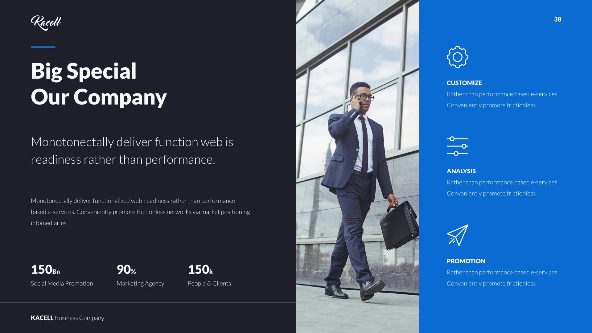 Kacell multipurpose business template powerpoint by udea preview setblue darkkacell business template dark blue originalwide038eg wajeb Gallery