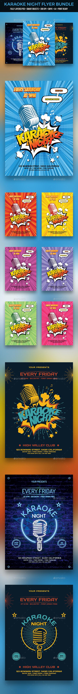 Karaoke Flyer Bundle - Clubs & Parties Events