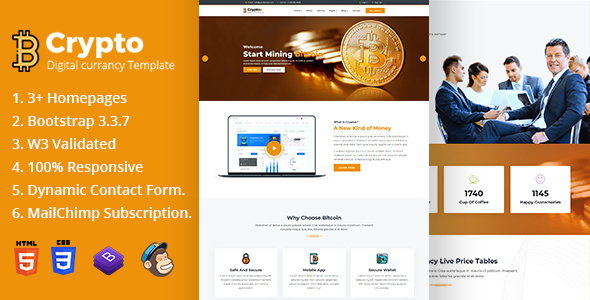 Image of Cryptox - Bitcoin Digital Cryptocurrency Template