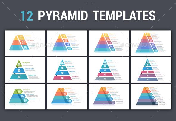 Pyramid Infographics - 12 Templates - Infographics