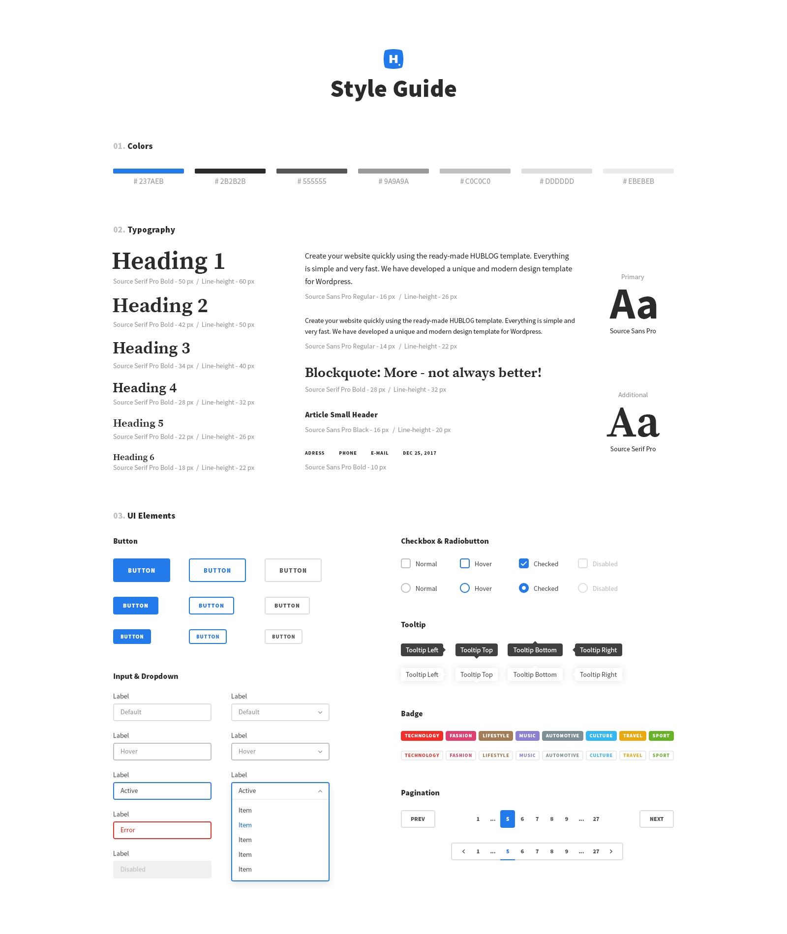 Hublog - Blog & Magazine PSD Template by UIFox   ThemeForest