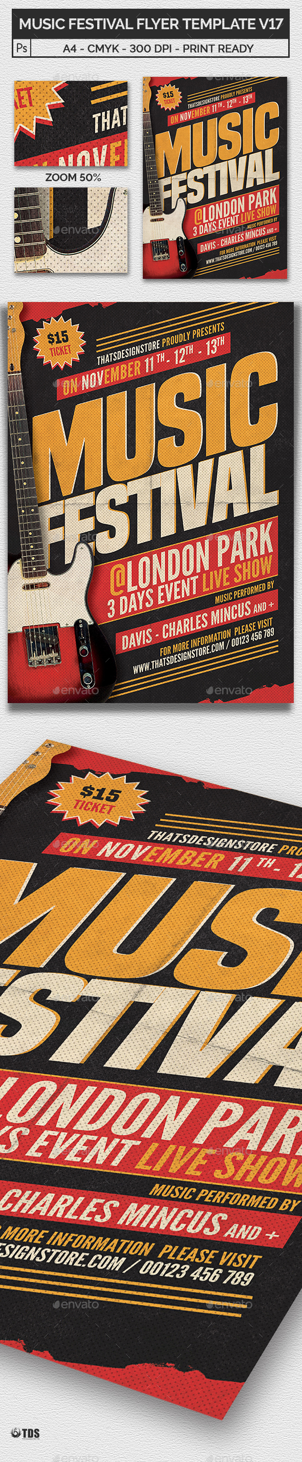 Music Festival Flyer Template V17 - Concerts Events