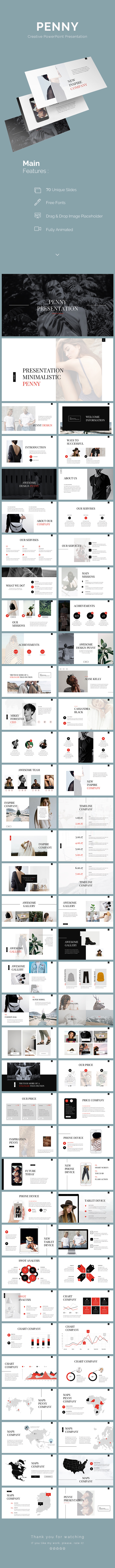 Penny PowerPoint Template - PowerPoint Templates Presentation Templates