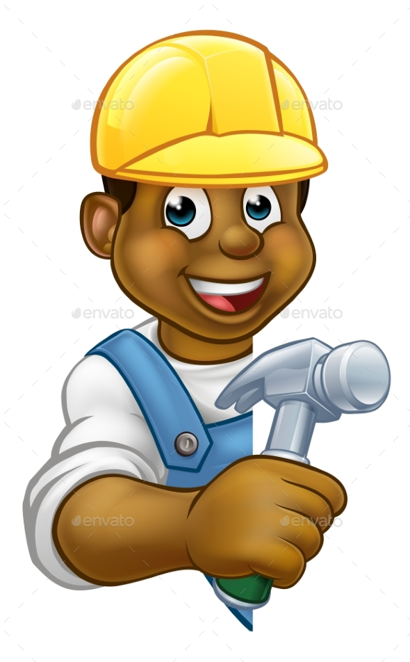 Builder Carpenter Cartoon - People Characters