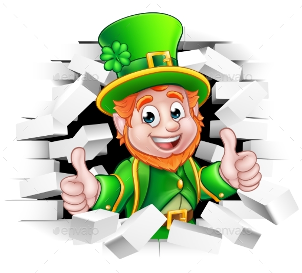 Cartoon Leprechaun St Patricks Day - Miscellaneous Seasons/Holidays