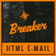 Breaker - PSD + HTML Travel Email Template with Stampready Builder