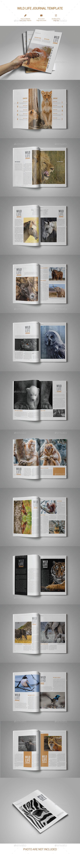 WILD LIFE JOURNAL MAGAZINE - Magazines Print Templates