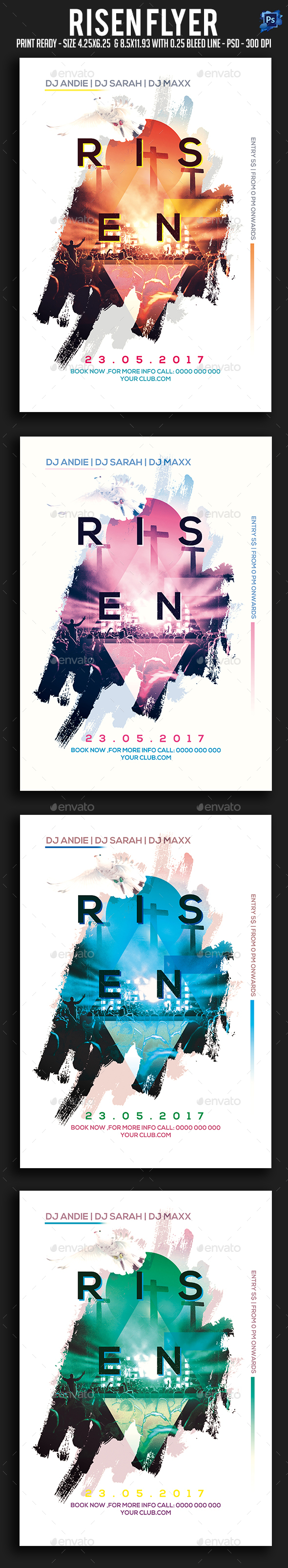 Risen Flyer - Clubs & Parties Events