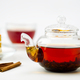 Teapot, tea cup and cake on white background - PhotoDune Item for Sale