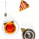 Transparent teapot, glass cup, spoon - PhotoDune Item for Sale