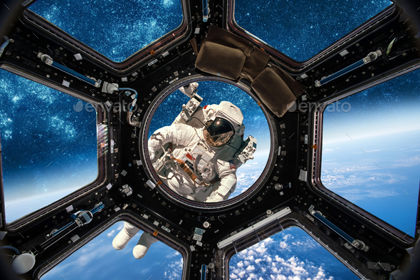 Astronaut in outer space - Stock Photo - Images