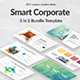 3 in 1 Smart Corporate Bundle Powerpoint Template