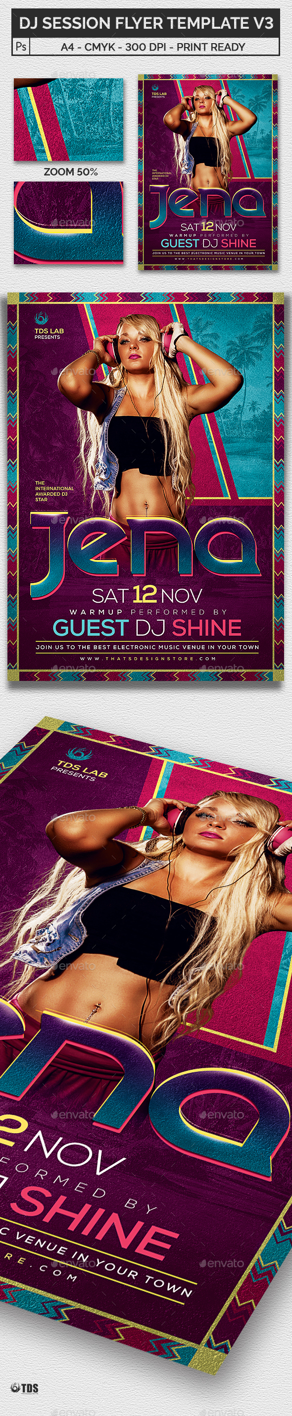 DJ Session Flyer Template V3 - Clubs & Parties Events