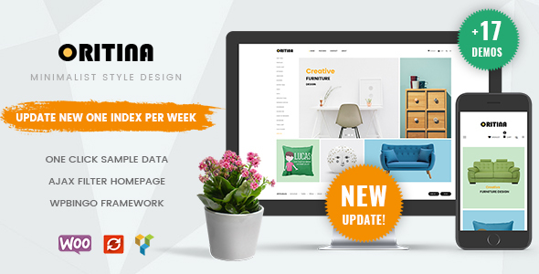 Oritina - Clean, Minimal WooCommerce WordPress Theme
