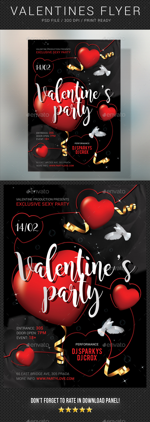 Valentines Flyer 2 - Clubs & Parties Events