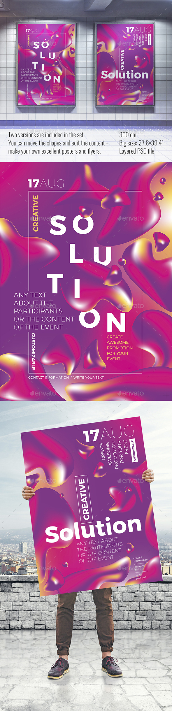 Mesh Gradient Shapes Poster for Any Event - Events Flyers