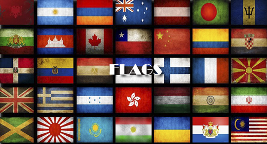 FLAGS OF THE WORLD FOOTAGE COLLECTION