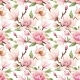 Watercolor Magnolia Floral Pattern