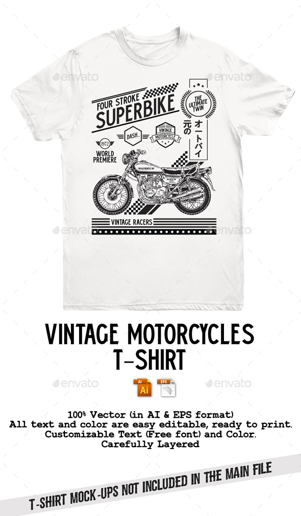 Vintage Motorcycles T-Shirt - T-Shirts