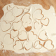 Valentine's Day concept - uncooked cookies hearts - PhotoDune Item for Sale