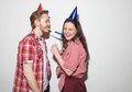 cocky guy and girl have fun on party - PhotoDune Item for Sale