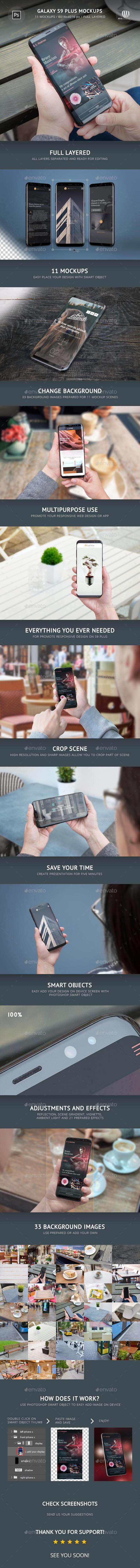 Galaxy S9 Plus Mockups - Mobile Displays