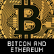 Bitcoin and Ethereum Cryptocurrency Coins - GraphicRiver Item for Sale