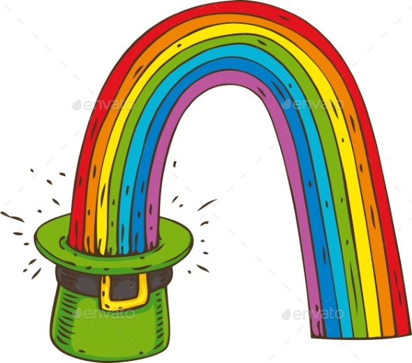 Leprechaun Hat with Rainbow - Miscellaneous Seasons/Holidays
