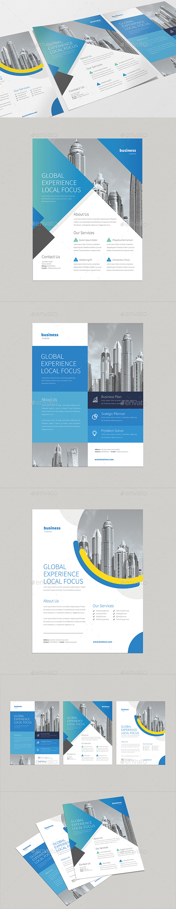 3 Professional Business Flyers - Corporate Flyers