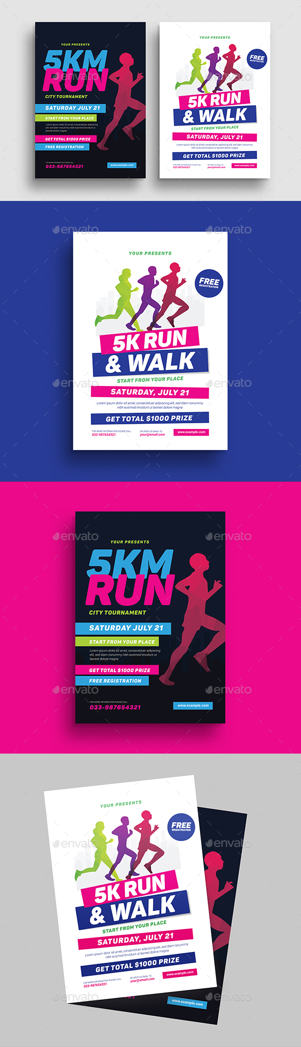 5k Run Event Flyer - Sports Events