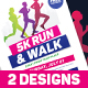 5k Run Event Flyer - GraphicRiver Item for Sale