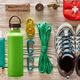 Travel items for hiking flat lay - PhotoDune Item for Sale