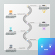 Modern Wave Infographic Process Template - GraphicRiver Item for Sale