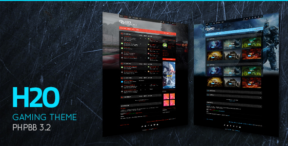 H2O - Action / Gaming Responsive phpBB 3.2 Theme - PhpBB Forums