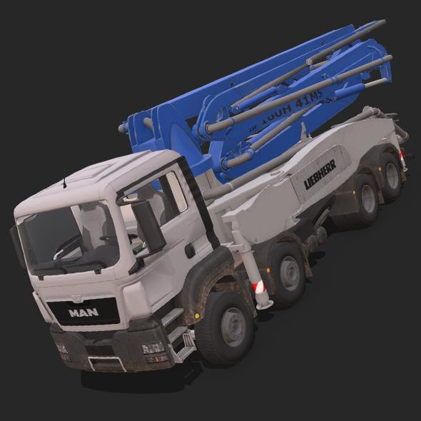 MAN Concrete pump M5 - 3DOcean Item for Sale