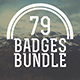 79 Badges and Logos Bundle - GraphicRiver Item for Sale