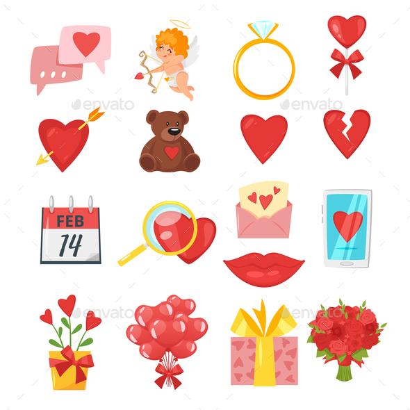 Valentine's Day Romantic Symbols - Valentines Seasons/Holidays