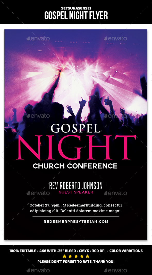 Gospel Night Flyer - Church Flyers