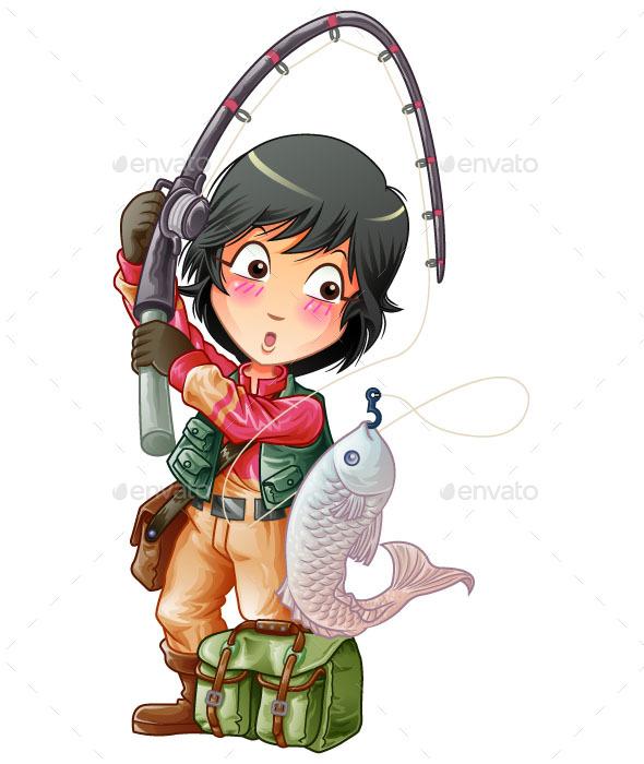 Fishing - People Characters