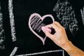 pink chalk heart - PhotoDune Item for Sale