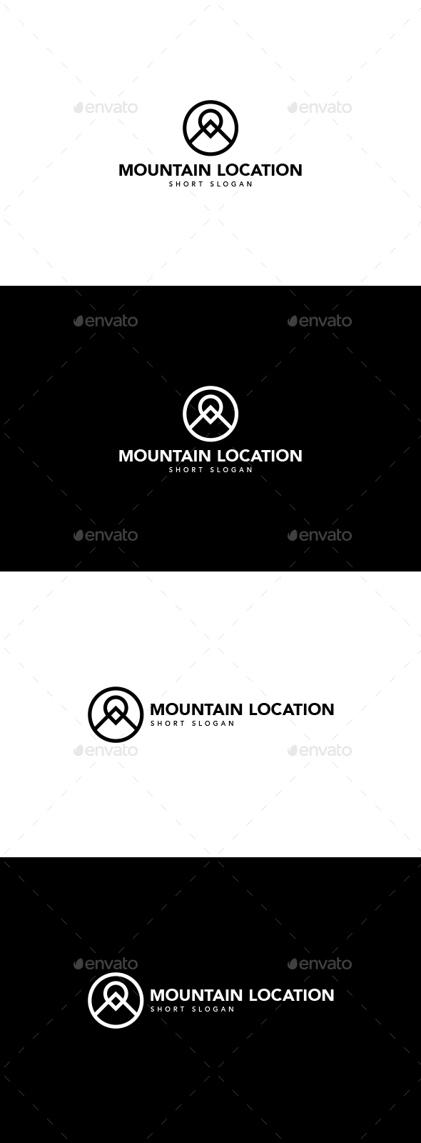 Mountains Location Logo - Nature Logo Templates