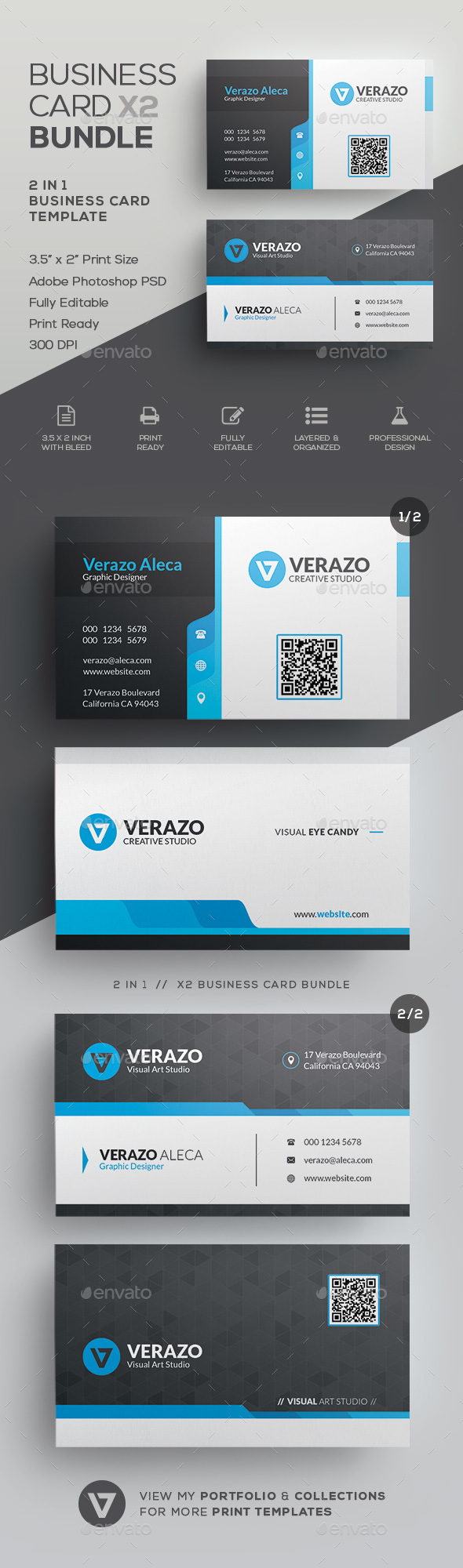 Business Card Bundle 48 - Corporate Business Cards