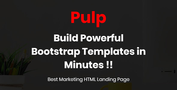 Pulp - One Parallax Page Template - Business Corporate