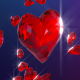 Diamond Hearts Falling - VideoHive Item for Sale
