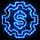 Dollar Blue Electric Fire Icon 03 - VideoHive Item for Sale