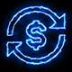 Dollar Blue Electric Fire Icon 04 - VideoHive Item for Sale